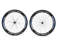 Ceramic Bearing + Sapim Spokes + Straight Pull Hubs U Shape 25mm Wide 700C Carbon Wheels 60mm Tubular Road Bike Bicycle Wheel