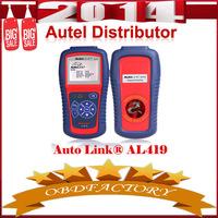 New 2014   Autel AutoLink AL419 OBD II & CAN Code Reader Update Official Website Tools Electric obd2 Auto Diagnostic Tool