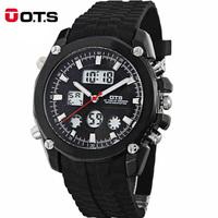 Original brand dual display electronic watches men outdoor sports watches rubber belt waterproof hot sale wholesale