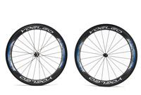 U Shape 25mm Wide 60mm Carbon Wheel Clincher Road Bicycle Wheelset + Ceramic Bearings + Sapim Spokes + Straight Pull Hubs