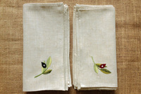 Olive branch fashion embroidered linen tea table napkin cloth napkins