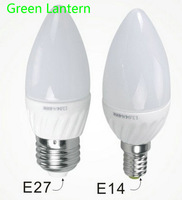 3w e27 Samsung led ceramic candle bulb 2700k with 3 years warranty(CE&Rohs)