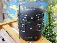 Camping cookware set  Hiking  Foldable Pot Pan Set alloy aluminium
