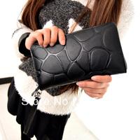 2014 new designed stone pattern zipper women day long design clutch handbag purse free shipping