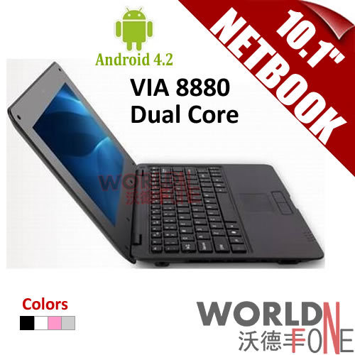 """FS! 10.1 inch 10.1"""" Netbook VIA8880 Dual Core UMPC Android 4.2 1.5GHz Wifi 512M RAM 4GB HDD HDMI (Russian Keyboard Option)(China (Mainland))"""