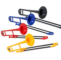 NEW Bb Tenor Plastic Trombone -4 pcs