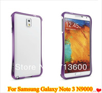 Dual Color Aluminum Metal Bumper For Samsung Galaxy Note 3 III N9000 N9006 Small Waits Frame Bumper