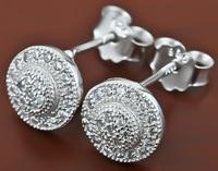 Women's  Genuine Sterling Silver Jewelry 100% Pure 925 Silver Earrings Girl's Fashion GNE0237