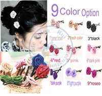 roses silk fashion multi color option hair clips hairpins Accessories decor Lady girl's wholesale retail