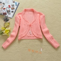 Autumn and winter sweet short design small cardigan sweater shrug coat