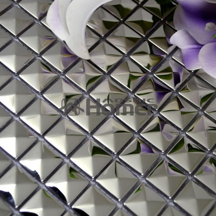 Azulejos Baño Hello Kitty:gratis, 20 x 20 mm gris acero inoxidable metal mosaico de azulejos