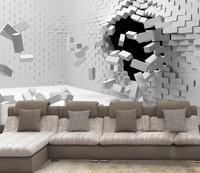 Large Wallpaper 3d Abstract Art Stereo Fashion Modern Wallpaper Embossed Mural Tv Background Wall Dark