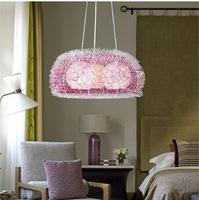 Aluminum wire three head droplight hand woven bedroom aluminum lamp Chinese Art