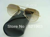 free shipping fashion Gradient Sunglasses Mens brand sunglasses Womens eyeglasses designer Gold frame Gradient Lens
