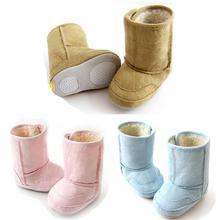 niño niña infantil elegante bebé lindo zapatos botas de nieve no- deslizamiento cálido pieles 7-24m ajuste(China (Mainland))