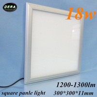 free shiping 25pcs18W Led panel light  300*300mm utral thin square ceiling 230v  led recessed ceiling down light lamp bathroom