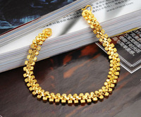 Classic Vintage Lady 24k gold plated Chain wedding bracelet & bangle fashion Bracelet gold Jewelry  KS388
