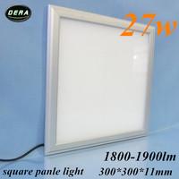 free shiping  27W Led panel light  300*300mm utral thin square ceiling 230v led recessed ceiling down light 85-265v 1pcs/lot