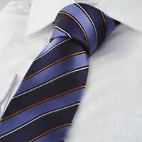 New Striped Purple Men Tie Formal Suit Necktie Party Wedding Holiday Gift KT1077 D398