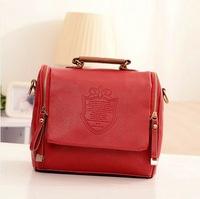 2014 candy color fashion vintage leather women handbag cross body women messenger bags ladies handbags totes shoulder bags