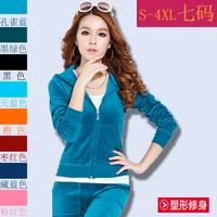 Free Shipping - 2140 New Ladies velvet track suit women Sweatshirts sportswear