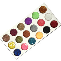 Free Shipping 18 Mix color Nail Glitter Powder Dust Nail Art