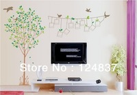 150*120cm Large Fashion Frame Tree Wall Sticker Removable Art Home Decoration PVC Transparent Poster Decal TV background Sticker