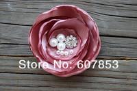 2014 Handmade Burned hair flowers,Satin Fabric Hair flower,for wedding/Baby/Girl accessories