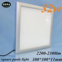 free shiping 1pcs 32W Led panel light  300*300mm utral thin square ceiling 230v led recessed ceiling down light 85-265v