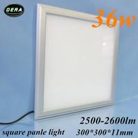 1pcs 36W Led panel light  300*300mm utral thin 230v 36w square  led recessed ceiling down light 85-265v kitchen free shiping