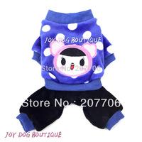 Cute Blue Pet Soft Jumper Pet Dog Clothes Wholesale