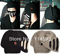 Fashion Korean version new winter thick black men Roman knight hat warm wool cap masks