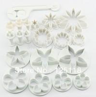 factory retail 20pcs mixed fondant plunger cutters for fondant cake decoration