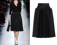 13 vintage stereoscopic woolen flannel pleated skirt bust skirt midguts