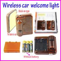 2013 New arrival 12V CREE Wireless car door light 2pcs each box  no drill hole car logo projector for honda civic  Ford etc