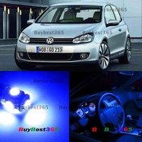 11x White LED Interior Lights Bulb SMD Kit Package Volkswagen Golf GTi MK6 VW