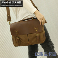 2014canvas man bag fashion vintage messenger bag messenger bag handbag briefcase business casual