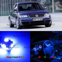 11x White LED Interior Lights Bulb SMD Kit Package Volkswagen Passat B5 1997-2000