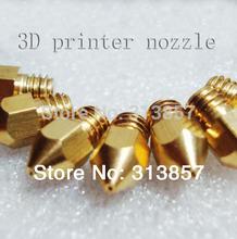 3D printer nozzle (60PCS/LOT)! 1.75mm abs / pla material Makerbot Mk8 3D printer nozzle 0.4mm precision printing