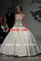 New Fashionable Gorgeous Ball Gown Beaded Pnina Tornai Wedding Dresses 31805 Satin Sweetheart Jeweled Corset Skirt