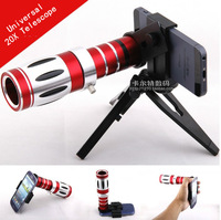 1Pcs Free shipping wholesale Universal 20x Camera Zoom optical Telescope telephoto Lens For iphone Samsung HTC Nokia Blackberry