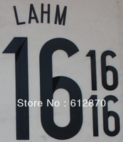 #16 LAHM  Germany Home 2014 Print  Name , World Cup 2014.Star Name sets ,Print by yourself.accept custom name