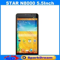 STAR N8000 Phone With MTK6582 Quad Core Android 4.2 1GB 4GB 3G GPS 5.5 Inch Screen Capacitive Screen Smart Phone