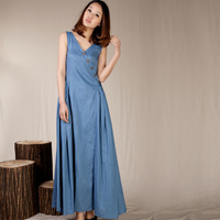 RUOSU V-neck slim sleeveless one-piece dress vest long skirt summer women's 2013 women's