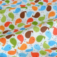 160cm wide 5 meters Colorful little bird and Plane baby bedding curtain cotton fabric home textile Free shipping