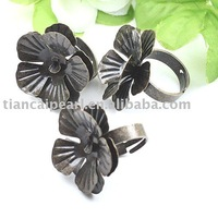 50pcs butterfly bronze Ring Base Blank Finding 25mm