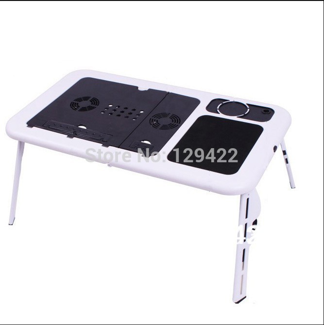 Free shipping Bed laptop table cartoon folding table Built-in cooling fan and mouse pad(China (Mainland))