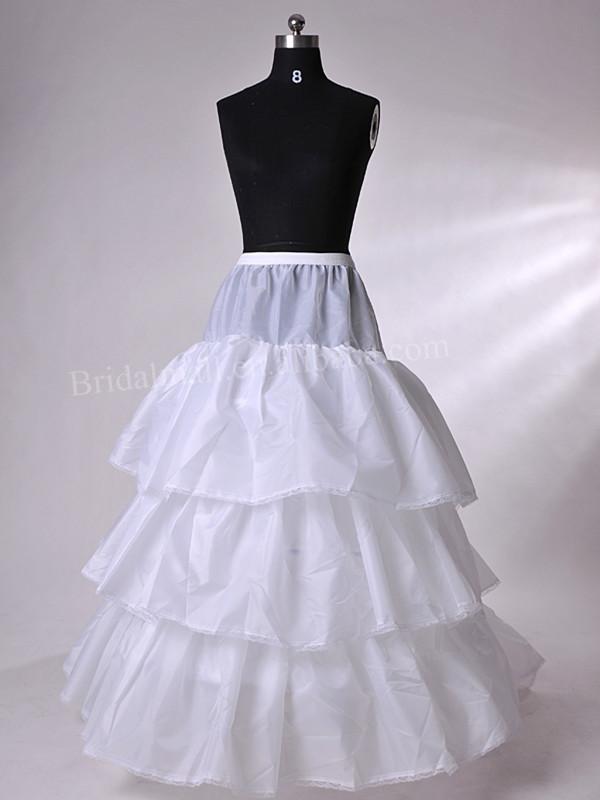 Plus Size Ruffles Floor Length White Cheap Petticoats For Wedding Dress Bridal Dress Petticoat