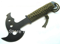 10pk durable sapper hatchet camping and hiking axe in outdoors portable wilderness poleaxe with woolen handle