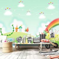 10m*45cm kids Child real cartoon tv background wallpaper mural pvc non woven  home decor